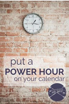 """I love the idea of a """"power hour."""" Schedule 60 minutes each week to tackle those those small, mildly unpleasant tasks / time management / productivity Routine, Time Management Tips, Project Management, Getting Things Done, How To Run Longer, Business Tips, Business Coaching, Self Improvement, No Time For Me"""