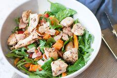 Warm Chicken Salad | 28 by Sam Wood 28 By Sam Wood, Warm Chicken Salad, Kung Pao Chicken, Meat, Cooking, Ethnic Recipes, Food, Kitchen, Hot Chicken Salads