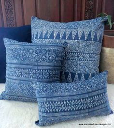 20 Hmong Natural Indigo Batik Decorative by SiameseDreamDesign, $38.00