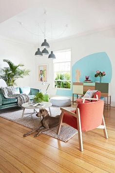 Living Room Layout - space to stretch out Estilo Interior, Home Interior, Living Room Inspiration, Interior Inspiration, Pastel Room, Comfortable Living Rooms, Piece A Vivre, Home And Deco, Home Design