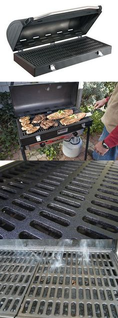 Other Camping Cooking Supplies 16036: Camp Chef Deluxe Sport Grill Box For 2 Burner Stove BUY IT NOW ONLY: $129.99
