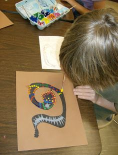 4th Grade Aboriginal Dot Paintings