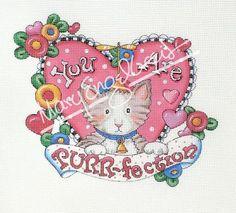 Needlepoint Canvas: L O V E - Mary Engelbreit Painted Pony, Mary Engelbreit, Hand Painted Canvas, Needlepoint Canvases, Artist Art, Happy Valentines Day, I Card, Needlework, Whimsical