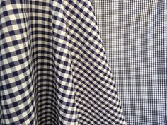 """50's Cotton Fabric Navy Blue and White Gingham Check Pattern - Measures 36"""" x 108"""" - 3 Yards by ElkHugsVintage on Etsy"""