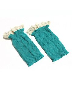 Another great find on #zulily! Aqua Ruffle Boot Cuffs by My Sunshine Shoppe #zulilyfinds