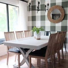 5 Tips For Painting A Buffalo Check Wall Dining Room