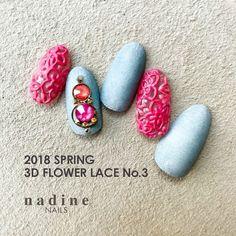 春ネイルは透け感がオススメ!! 3Dフラワーレースアート | GINGERweb[ジンジャーウェブ]