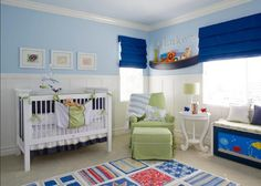Baby Room Designs: Cool Blue Paint In Baby Room Decorations Ireland: Cute and Pretty for Baby's Room Designs