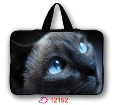"Blue Cat Face 13"" Laptop Soft Sleeve Bag Case Cover Pouch For 13.3 inch Apple Macbook Pro,Air #Affiliate"
