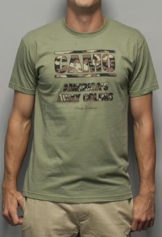 CAMO: America's Away Colors Tee in Light Olive by Rowdy Gentleman