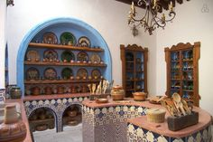 Home Boutique ( Mexican Style Kitchens, Mexican Kitchen Decor, Mexican Home Decor, Hacienda Homes, Hacienda Style, Mexican Restaurant Decor, Mediterranean Living Rooms, Rustic Kitchen Design, Rustic Room