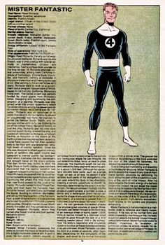 a Fantastic - Facts sheet - The Official Handbook of the Marvel Universe Issue - Read The Official Handbook of the Marvel Universe Issue comic online in high quality Marvel Comics Superheroes, Hq Marvel, Marvel Comic Universe, Comics Universe, Marvel Heroes, Marvel Cinematic Universe, Marvel Comic Character, Comic Book Characters, Marvel Characters