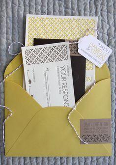 """Danielle"" Letterpress Wedding Invitations | Mink Letterpress"