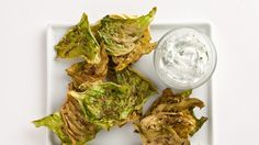 Caraway Cabbage Chips with Dill Yogurt Recipe | Bon Appetit