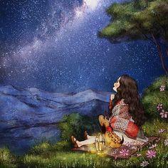 Estrellas noche luz by Aeppol