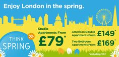 Serviced Apartments in London this easter from £79