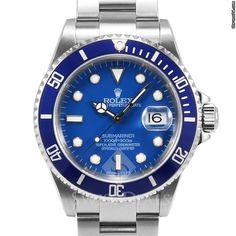 Rolex Submariner Stainless Steel Blue Index Dial Blue 60min Bezel Oyster Band
