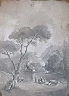 Another Pascal Amblard painted grisaille panel