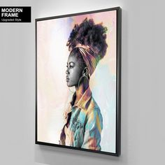African-American Woman Vector Beauty Woman, African Art, Canvas decoration for living room, Housewarming Gift, Black Woman Art Comic Poster, New Poster, Nirvana Art, Photo Wall Art, Decorating With Pictures, Black Women Art, African American Women, Minimalist Art, African Art