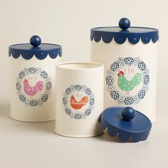 Large Rooster Cookie Tin | World Market