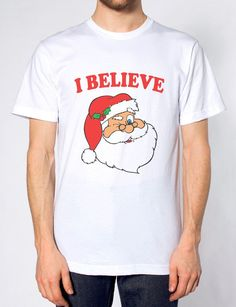 a27c9940f I BELIEVE IN SANTA T SHIRT FATHER CHRISTMAS FUNNY MAGICAL TOP MEN WOMEN  KIDS. The Clothing Shed