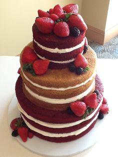 """naked"" wedding cake at Hyatt Clearwater Beach"