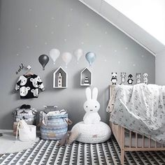 Happy Saturday everyone! How gorgeous kid's room by @stickstay.se  Miffy lamp available online  . #kidsroomdecor #kidsinterior #nordichome #nordicinspiration