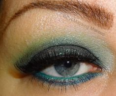 EyeMaysing used Atomic Teal, Sinful, Tropical, & Whisper. Milani Liquif'eye liner in Aqua on the waterline and ULTA Beauty liner in Teal Blue on lower lashline.