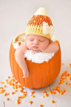 16 Adorable Photos of Babies and Pumpkins to Make Your Day | You're welcome.As the seasons change and the leaves begin to finally fade into the warm, seasonal hues of red, orange, and yellow, it's hard not to get excited for all things fall. The warm drinks that keep us cozy (even when it's not really that cold outside), the anticipation of the sweet string of our favorite holidays, and, let's not forget, the pumpkins! From carving them to fixing up some delicious treats with them, pumpkins…