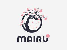 New flowers logo sakura Ideas Cherry Blossom Art, Cherry Flower, Blossom Flower, Graphic Design Typography, Logo Design, Flower Sketch Pencil, Japanese Logo, Tree Logos, Flower Logo