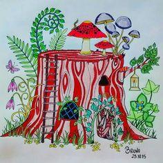 Floresta Encantada Tronco Johanna Basford