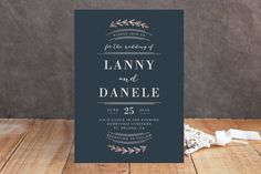 Elegant Announcement by Kelly Schmidt at minted.com