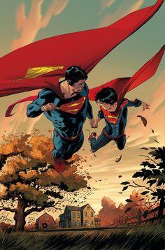 Superman Vol. Hopes and Fears (Rebirth) (Superman: DC Universe Rebirth) Superman Family, Superman Man Of Steel, Superman Comic, Superman Images, Comic Book Artists, Comic Books Art, Comic Art, Marvel Comics, Dc Comics Art