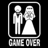 Funny T-Shirts - Game Over Mens T-Shirt #307 (Size Large Black)