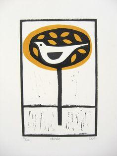 'Dove' Lino Print £15.00