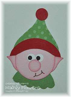 christmas elf punch art - tutorial on site   Stampin' Up!