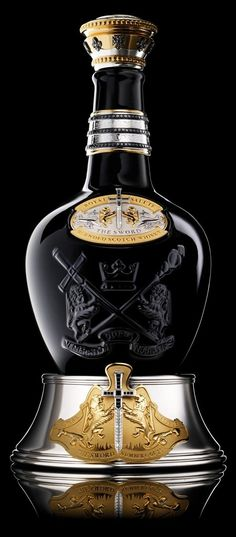 Blended from some of Royal Salute's oldest whiskies – all age 45 years and up – and comes presented in a bejeweled bottle crafted by the world's oldest jeweller to royalty, Garrard.Royal Salute The Sword of 21 Blended Scotch Whisky Cigars And Whiskey, Scotch Whiskey, Bourbon Whiskey, Whiskey Label, Whiskey Cocktails, Irish Whiskey, Alcohol Bottles, Liquor Bottles, Perfume Bottles