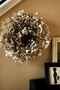Wreath made out of a dollar store book