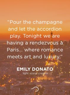 Enjoy the romantic feeling only Paris can offer.