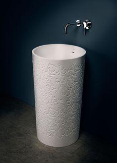 SA0505 blu•stone™ freestanding pedestal modern bathroom sinks