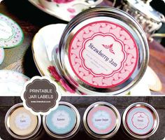 Free Printable Mason Jar Labels                                                                                                                                                                                 More