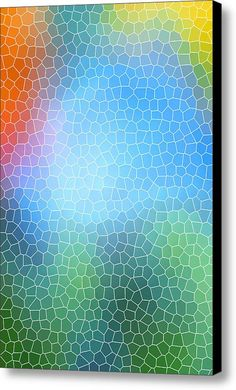Abstract Glass Pattern Canvas Print / Canvas Art By Christina Rollo