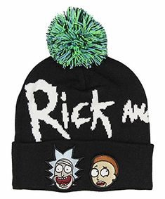 62288321ee2 Bioworld Adult Swim Rick and Morty Pom Beanie
