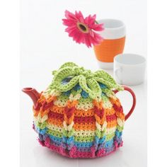 Crochet Lily Sugar 'n Cream Hot Hibiscus Tea Cozy with Free Pattern