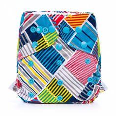 Baby's Favorite Waterproof Modern Stripe Diaper Cover for Prefolds, 20% discount @ PatPat Mom Baby Shopping App