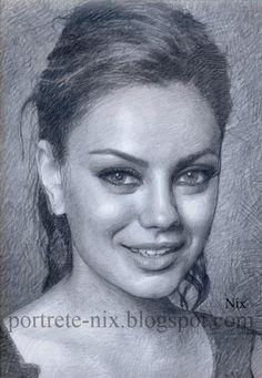 Mila Kunis by shtrumphx  | First pinned to Celebrity Art board here... http://www.pinterest.com/fairbanksgrafix/celebrity-art/ #Drawing #Art #CelebrityArt