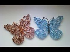 Mariposa hecha con tubos de papel higienico - YouTube