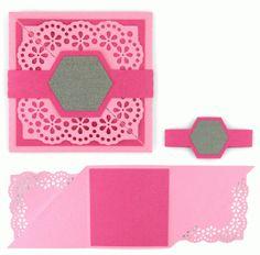 Silhouette Design Store - View Design #63762: tri-fold card: square lace