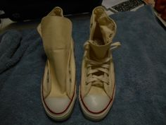 VINTAGE DEADSTOCK 70'S CONVERSE USA WHITE CHUCK TAYLOR ALL STARS SHOES SIZE 9