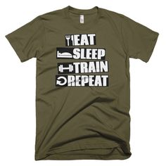 EAT SLEEP TRAIN REPEAT Short sleeve men's t-shirt